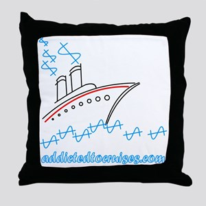 addicted Throw Pillow